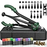 Xoopon Rivet Nut Tool, Auto Release Nut Rivnut Tool With 12 Metric & SAE Mandrels, Professional Rivet Tool Kit With 120 Rivet Nuts, Rugged Carrying Case - 16'' - 90% Time And Effort Saving
