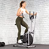 XtremepowerUS 2 in 1 Elliptical Fan Bike Dual Cross Trainer Machine Exercise Workout Home Gym LCD Monitor Heart Rate Sensor