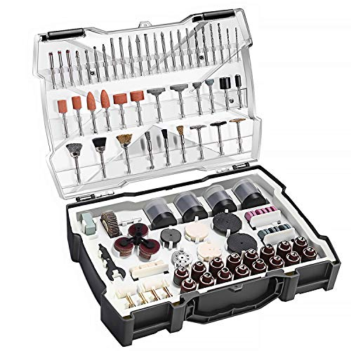 TACKLIFE Rotary Tool Accessories Kit 361 Pieces 1/8-inch Diameter...