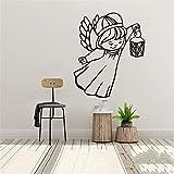wZUN Ángel niña de Dibujos Animados Pegatinas de Pared habitación de los niños Sala de Estar decoración del hogar calcomanías de Arte de Pared a Prueba de Agua 33X39 cm