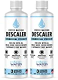 Descaler for Coffee Machines (2 Pack, 3 Uses Per Bottle) - Made in USA - Commercial Strength Descaling Solution Compatible with All Keurig K-Cup Pod Coffee Brewers and Espresso Makers
