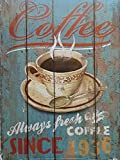 MR Cuadro de Madera Vintage Coffee Always Fresh Since 1936, 24x18x1 cms