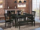 6 Pc Dining room set - Dining Table and 4 Kitchen Chairs and Bench