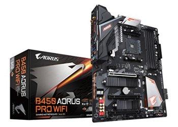 GIGABYTE B450 AORUS PRO WIFI (AMD Ryzen AM4/M.2 Thermal Guard with Onboard WIFI/HDMI/DVI/USB 3.1 Gen 2/DDR4/ATX/Motherboard)