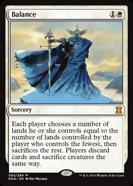 A single individual card from the Magic: the Gathering (MTG) trading and collectible card game (TCG/CCG). This is of Mythic Rare rarity. From the Eternal Masters set.
