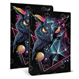 IPad 9.7 Inch Case Slim Fit Lightweight Smart Cover with Soft TPU Back Case for 2018/2017 IPad Air 2/1 Case Auto Sleep/Wake - Black Night Rad Owl