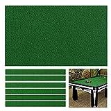 Boshen Billiard Cloth Pool Table Felt with 6 Cloth Strips for 8 Foot Table Fast Pre-Cut Rails, 3 Fabrics for Choice