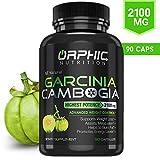 Pure Garcinia Cambogia Extract - Appetite Suppressant - Carb Blocker Capsules - 90 Caps