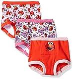 Sesame Street Girls' Toddler 3pk Potty Training Pant, Assorted Elmo, 3T