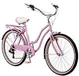 Schwinn Perla Womens Beach Cruiser Bike, 26-Inch Wheels, Pink