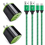 Wall Charger Block,Android Phone Cord for Moto E5 G4 G5 G6 Play, Samsung S7 S6 Active S5 A10,Galaxy J8 J7 J3 V,Kindle Fire HD 7 10 Tablet,LG K50 K40 K30 K31 K20 G4 G3,6FT Fast Charging Micro USB Cable
