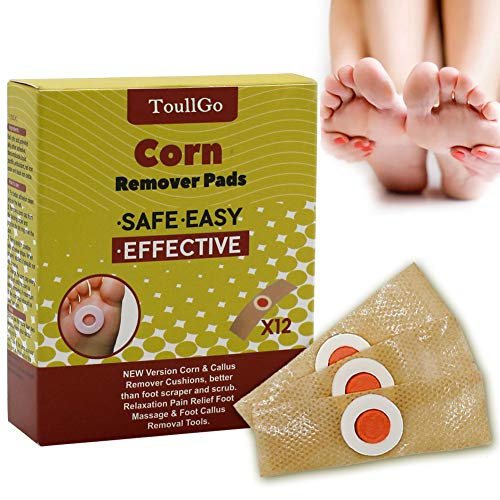 Corn Remover Pads, Corn Removal, Corn Remover, Corn Wart Remover, Corn Callus Remover, It is a Better Solution for People Who Suffer The Pain of Corn, 12Pcs/Box