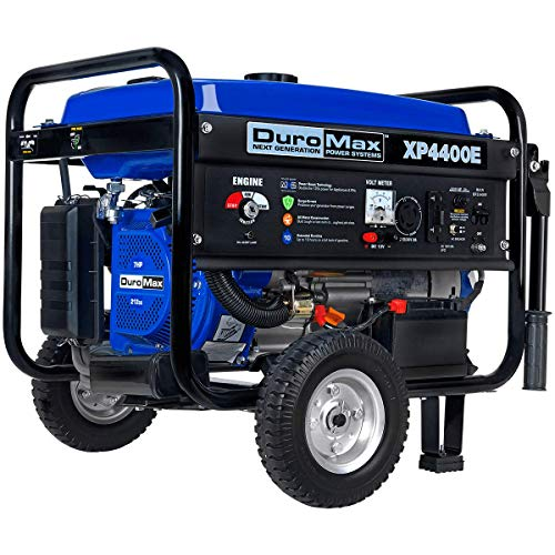 DuroMax XP4400E Gas Powered Portable Generator - 4400 Watt -Electric Start- Camping & RV Ready, 50 State Approved