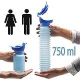 Lunata (Upgrade 2019) urinoire portable de 750ml, petit pot urine, pot urine camping randonnée, urinoir de...