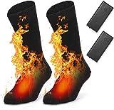 EDUPUP Chaussettes chauffantes électriques chauffantes pour Homme et Femme en...