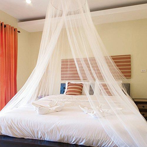 Blusea Moskitonetz Reise, Moskitonetz Bett Doppelbett Einzelbett, Baldachin Inklusive Klebehaken, Insektennetz Baldachin für Zuhause