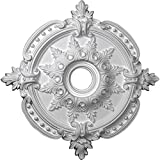 Ekena Millwork CM28BE Benson Classic Ceiling Medallion, 28 3/8'OD x 3 3/4'ID x 1 5/8'P (Fits Canopies up to 6 1/2'), Factory Primed