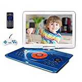16.9' Portable DVD Player with 14.1' Large Swivel Screen, Car DVD Player Portable with 4 Hrs...