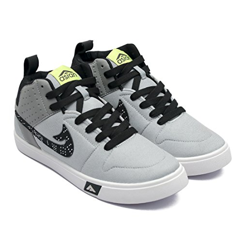 ASIAN Skypy-31 Grey Black Walking Shoes,Casual Shoes,Canvas Shoes for Men UK-11