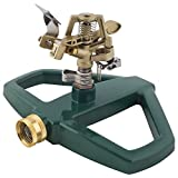 Melnor Impact Lawn Sprinkler, Metal Head & Metal Sled, Adjustable Angle and Distance, Waters Up to 85 Diameter Circle