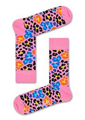 Happy Socks Multi Leopard Sock Calze, Rosa (Pink), 7/10/2018 (Taglia Produttore: 41-46) Uomo