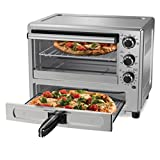 Oster Convection Oven with Dedicated Pizza Drawer, Stainless Steel (TSSTTVPZDS)