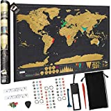 Carte du Monde à Gratter XXL (82.5 CM*59.4 CM), Devlop Carte du Monde en PosterExtra Large, Marqué...