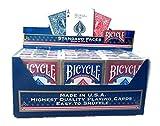 Bicycle Lot de 12 planches de vélo standard bleu et rouge par US Playing Cards...