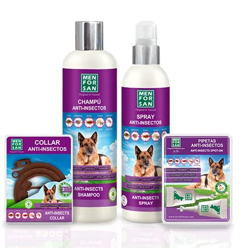 MENFORSAN Pack de 4 Productos antiparasitarios para Perros | Contiene...