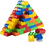 Prextex 100 Piece Classic Big Building Blocks Compatible with All Major Brands STEM Toy Large...
