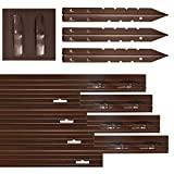 Dreamscape PRO Aluminum Landscape Edging - Easy Install Professional Landscaping Border - 15 Strips, 8ft Each (120ft Total) - Brown Painted - Metal Divider for Lawn, Garden, Flowerbed