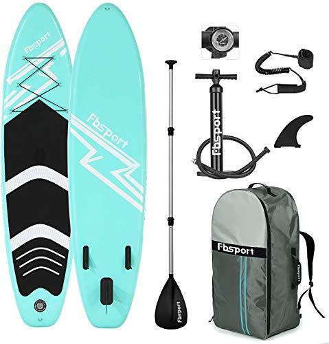 FBSPORT Tavola da SUP, 15 CM Spessore Tavola da Stand Up Paddle, Stand Up Paddle Board, Tavola da Paddlingcon Pompa, Pagaia Regolabile, Surf Board con Accessori Completo | Modello: 320CM