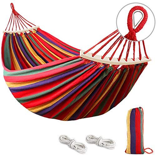 Hamac de camping MOSFiATA, tissu en toile robuste et durable avec une...