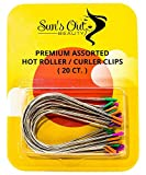 Sun's Out Beauty Premium Replacement Assorted Hot Roller Clips - Curler Clips - Larger Sizes Set (20 Count) - Fits Most Large to Jumbo Size Rollers - Curlers