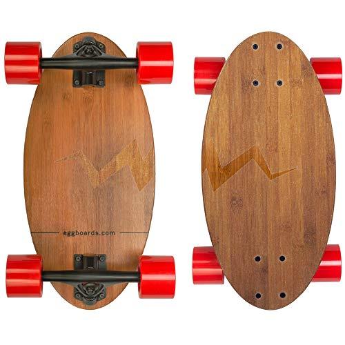 Eggboards Mini Longboard The Original - Bamboo Wood Cruiser Skateboard for Adults and...