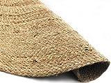 Home and Home Tapis rond en toile de jute de 100 cm, fibres naturelles de 15 mm d'épaisseur, cousu à la main
