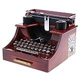 Baoblaze Boîtes à Musique Jouets Cadeaux pour Enfants Décorations de Bureau Chambre - Machine à écrire