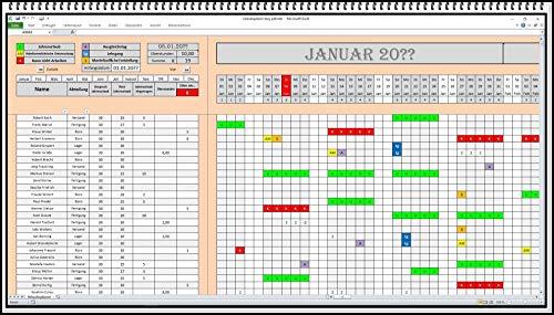 Personalplaner digitale Planungstafel Urlaubsverwaltung Personalplanungssoftware Excel Schichtplan Arbeitsplan App Software Abwesenheitsplaner