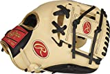 Rawlings Exclusive Heart of The Hide R2G Baseball Glove, Pro I Web, 11 1/2 inch, Black/Camel/Gold - Infield, AMAPROR204-2CBG
