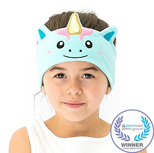 CozyPhones Kids Headphones Volume Limited with Ultra-Thin Speakers & Super Soft Fleece Headband - Perfect Toddlers & Children's Earphones for School, Home and Travel - Mystic Unicorn