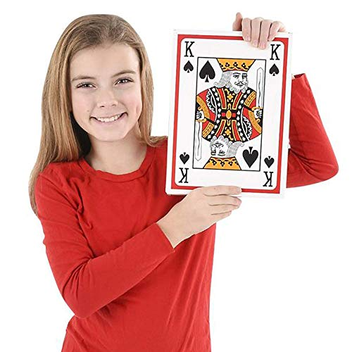 Giant Jumbo Playing Cards Deck by Gamie 8.5 Inches x 11.5 Inches - Oversized Super Big Poker Card Set - Huge Casino Game Cards for Kids, Men, Women and Seniors - Great Novelty Gift Idea