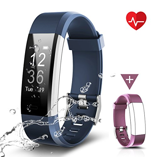 CHEREEKI Fitness Tracker Impermeabile IP67, LATEC Cardiofrequenzimetro Activity Tracker Braccialetto...