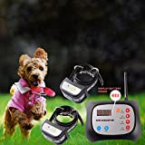 JUSTPET Dog Wireless Fence & Training Collar Outdoor 2-in-1 System, Electric Wireless Fence for...
