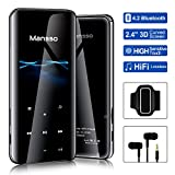 Mansso Lecteur MP3, MP3 avec Bluetooth 4.2/ Écran incurvé de 2,4 Pouces/Radio...