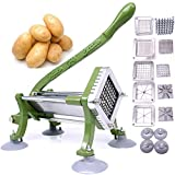 French Fry Cutter Commercial Potato Slicer with Suction Feet Complete Set, Includes 1/4',...