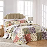 Greenland Home Blooming Prairie Bedspread Set, Twin/Twin XL, Multi
