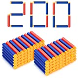 Forliver Refill Darts, 200 Pack Refill Bullets Compatible with Nerf Guns for Nerf N-Strike Elite Series Blasters Toy Guns. Kids Christmas Role Play Nerf Battle Game Gift (2019 Upgraded Version)