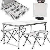 KZKR Table Pliante 120x60x70 cm Table de Pique-Nique Table de Jardin Table de Camping Table Pliante Portable...