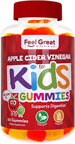 Feel Great Vitamin Co. Apple Cider Vinegar Gummies for Kids | Digestive & Immunity Support* | Healthy Gut Support for Children* | Natural Digestive Enzymes & Digestive Support for Boys and Girls 1