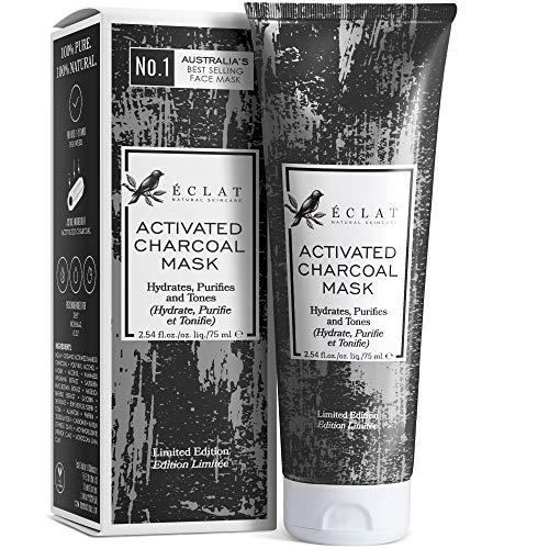 Mascarilla de Carbón Facial Eclat – Mascarilla Facial Carbón Activo con Carbón de...